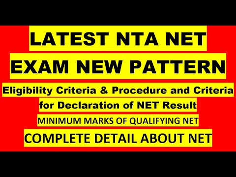 LATEST NTA NET EXAM NEW PATTERN##PROCEDURE OF DECLARATION OF NET EXAM RESULT##MIN. QUALIFYING MARKS